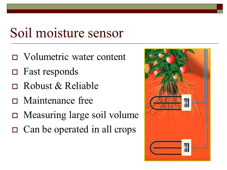 Soil moisture sensor Volumetric water content Fast responds