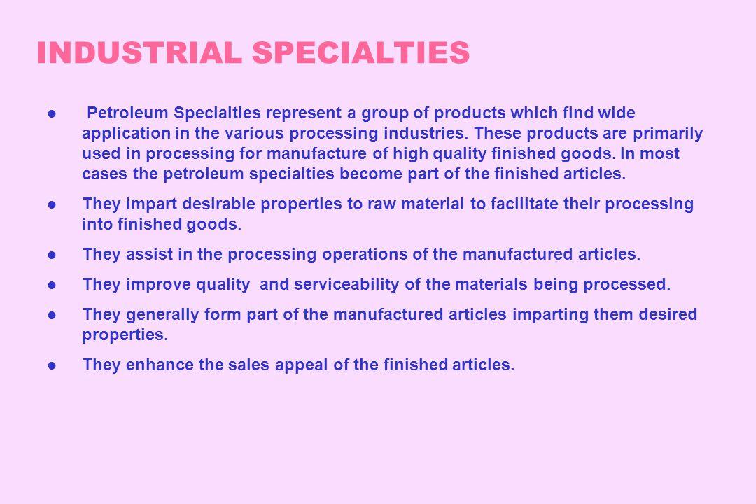 INDUSTRIAL SPECIALTIES