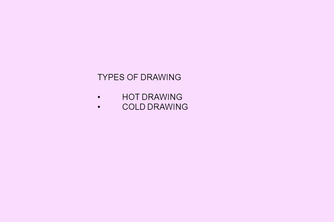 TYPES OF DRAWING HOT DRAWING COLD DRAWING