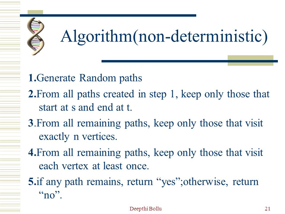 Algorithm(non-deterministic)
