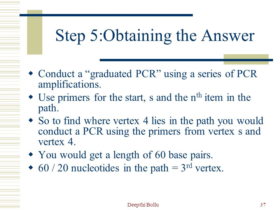 Step 5:Obtaining the Answer