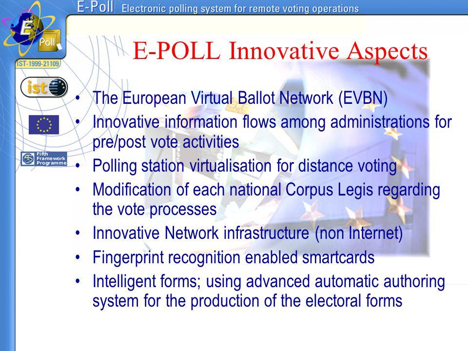E-POLL Innovative Aspects