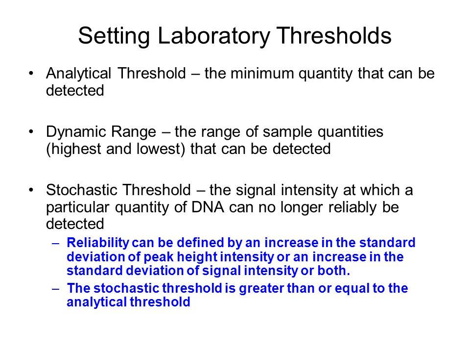 Setting Laboratory Thresholds