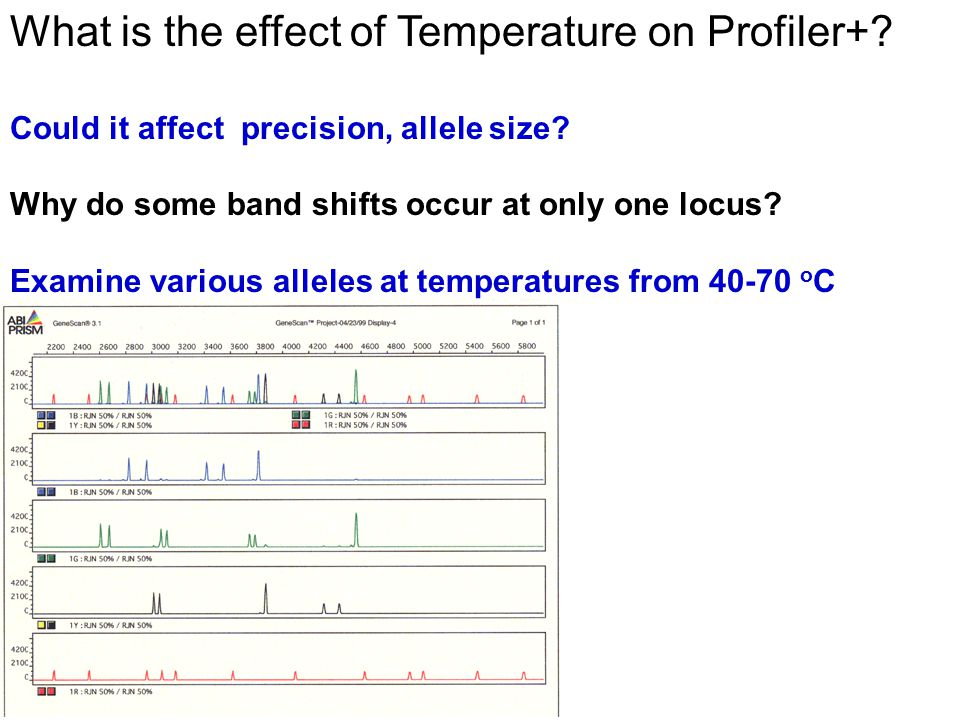 What is the effect of Temperature on Profiler+