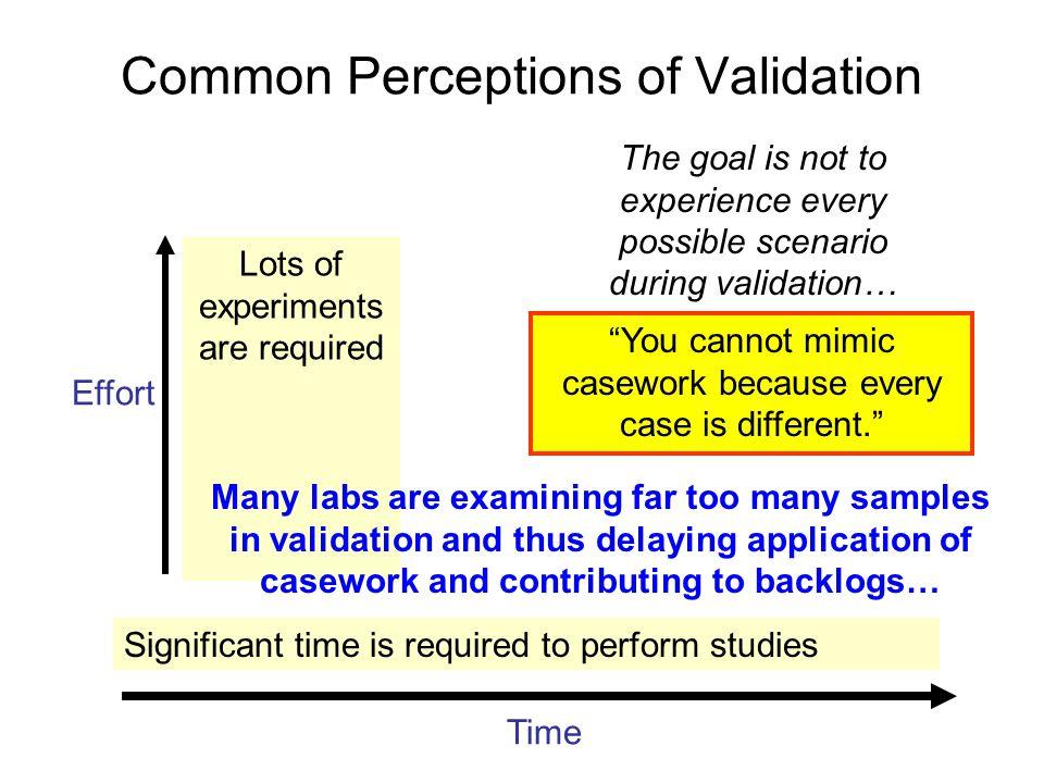 Common Perceptions of Validation