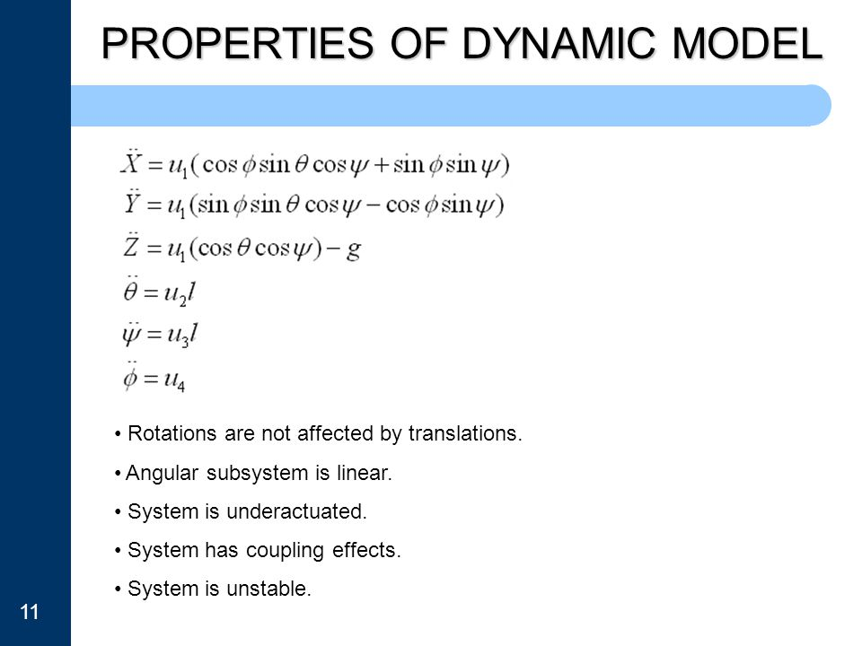 PROPERTIES OF DYNAMIC MODEL