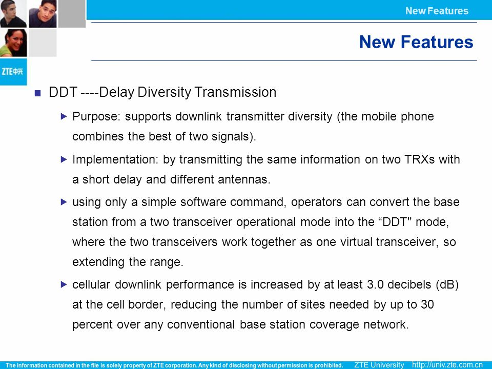 New Features DDT ----Delay Diversity Transmission