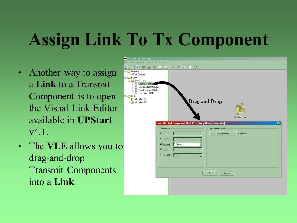 Assign Link To Tx Component