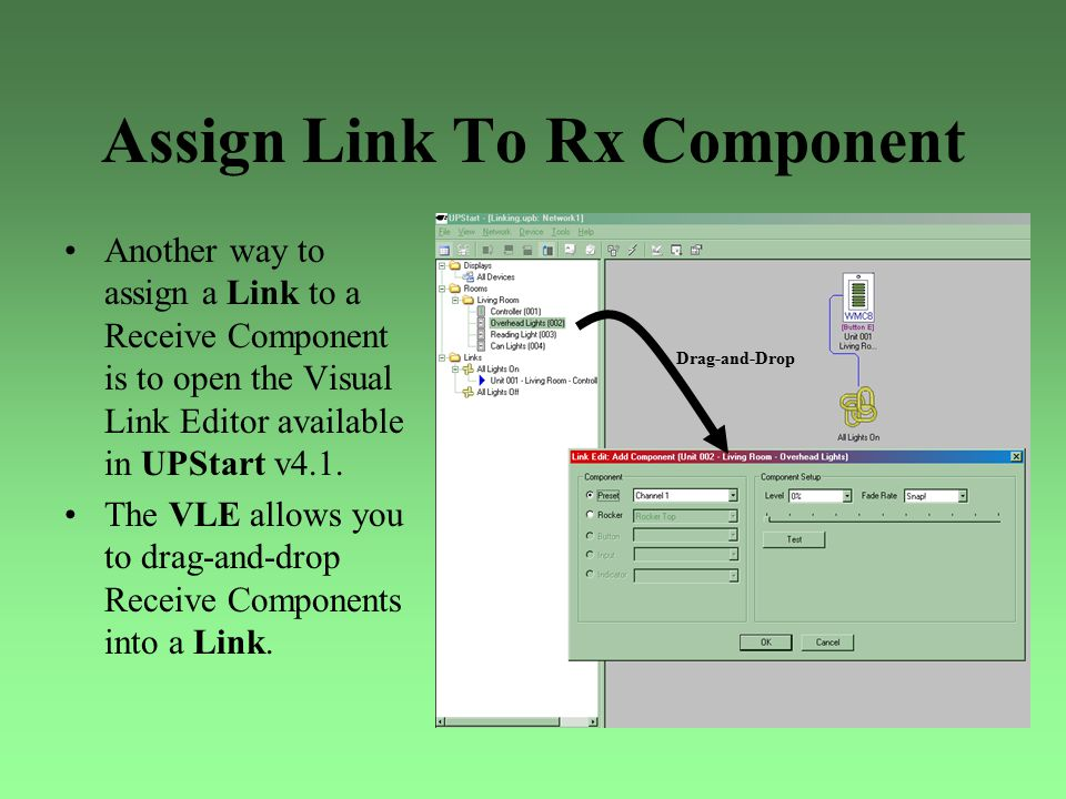 Assign Link To Rx Component