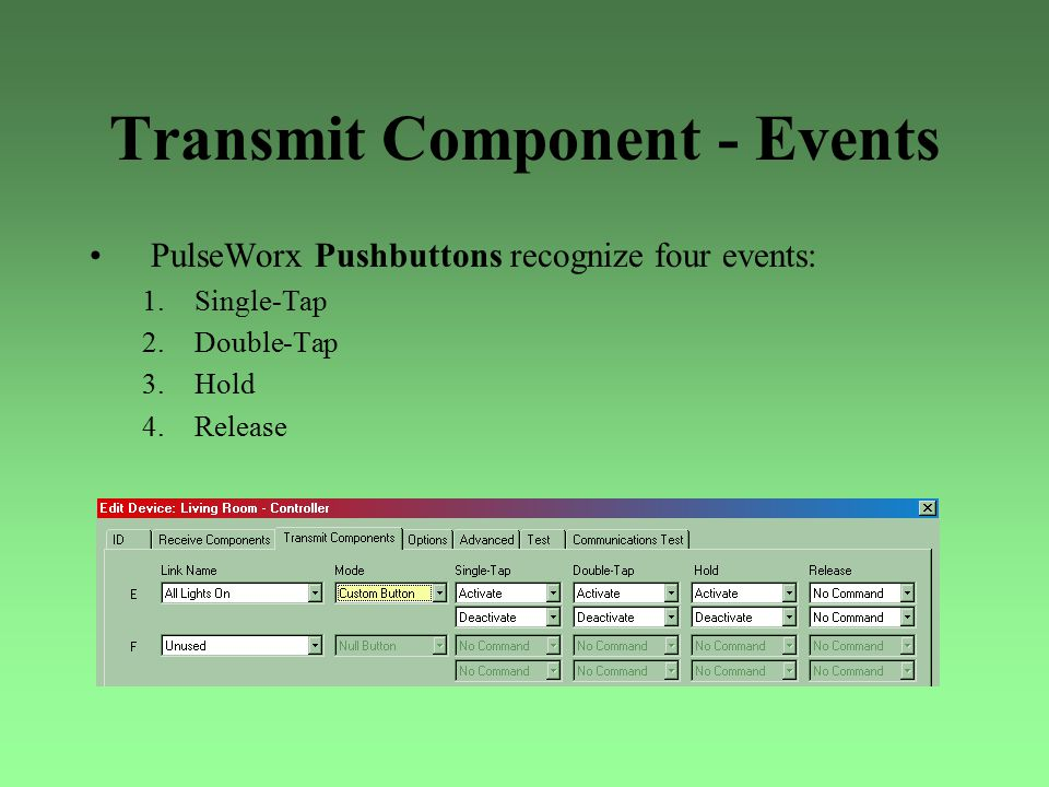 Transmit Component - Events