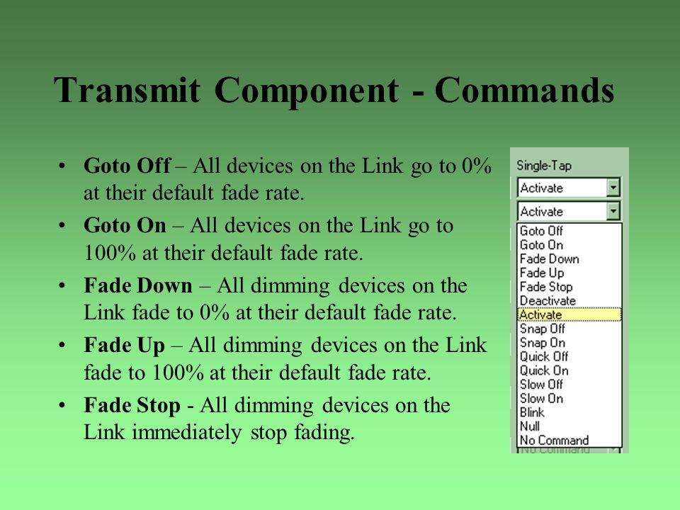 Transmit Component - Commands