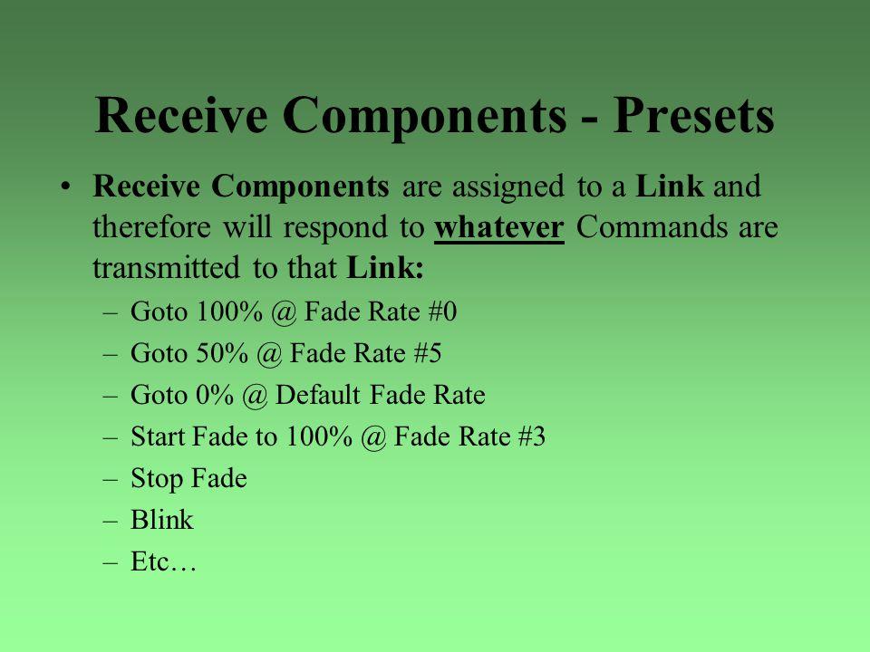 Receive Components - Presets