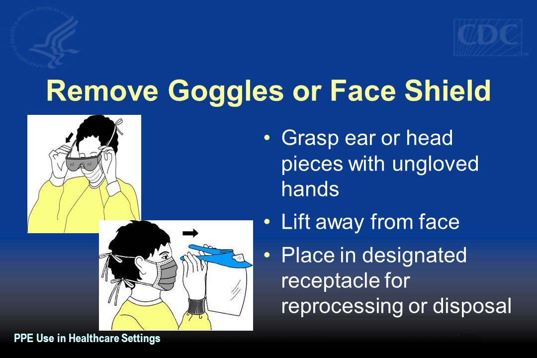 Remove Goggles or Face Shield