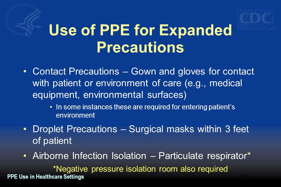 Use of PPE for Expanded Precautions