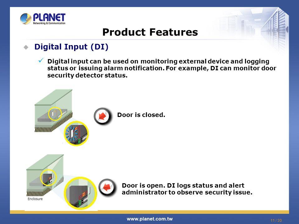 Product Features Digital Input (DI)