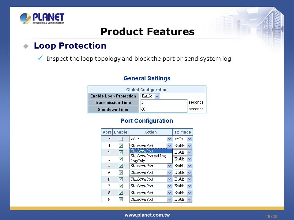 Product Features Loop Protection