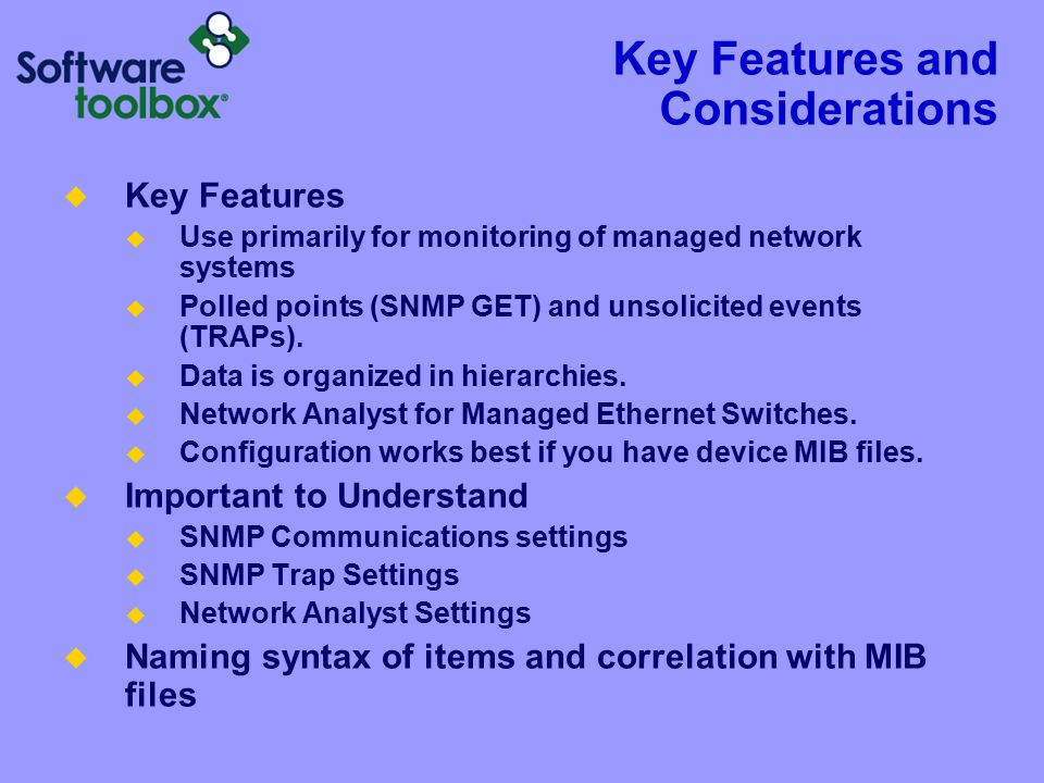 User Interface Review Configuring the SNMP Driver