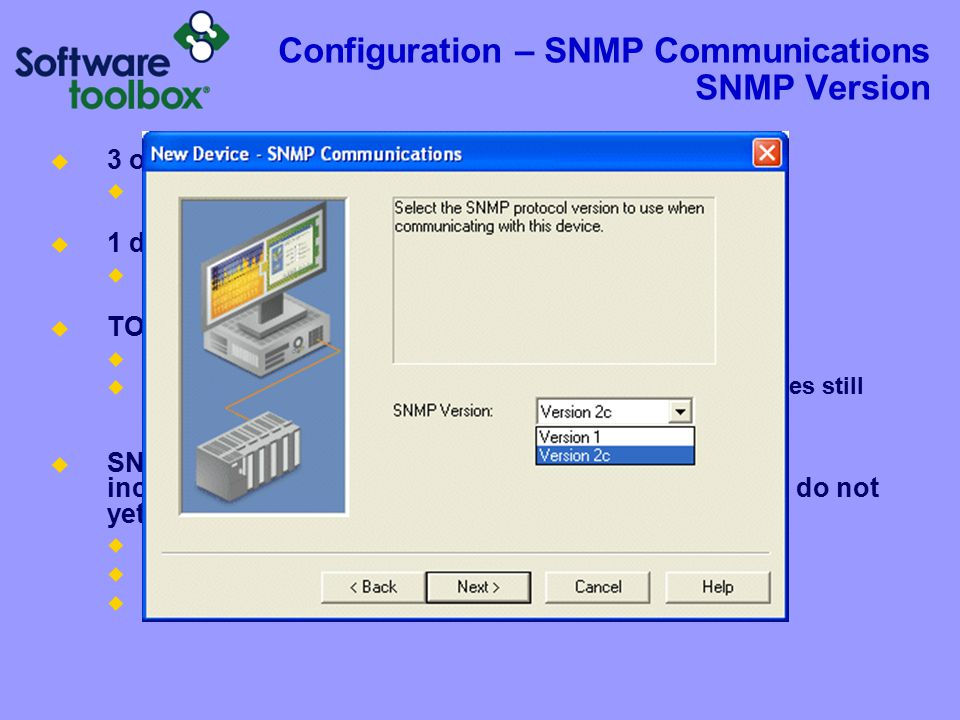 Configuration – SNMP Communications SNMP Port and Protocol