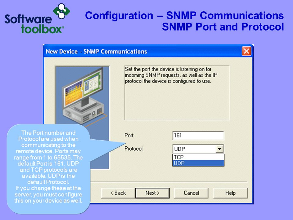 Configuration – SNMP Communications SNMP Community