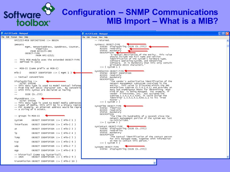 Configuration – SNMP Communications MIB Import – How Do we do it