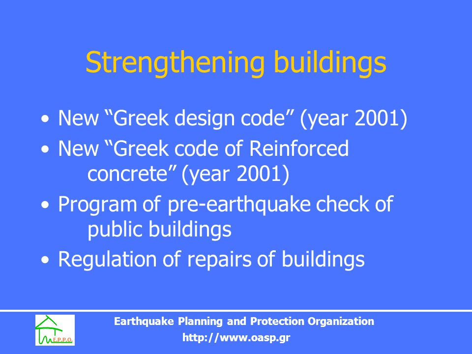 Strengthening buildings