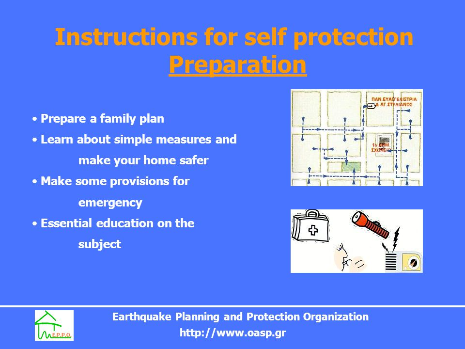 Instructions for self protection Preparation