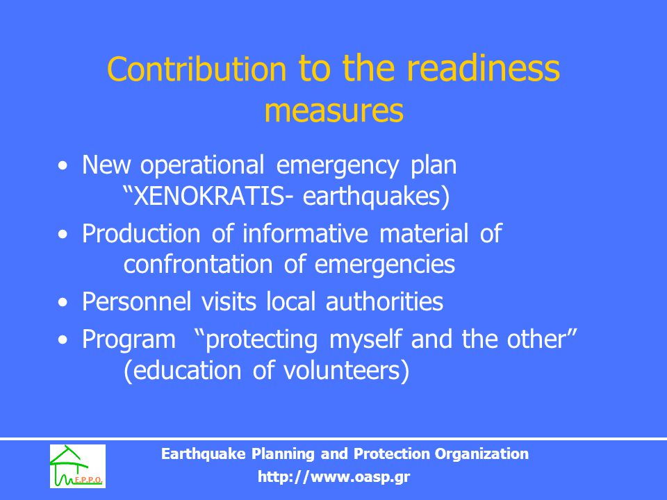Contribution to the readiness measures