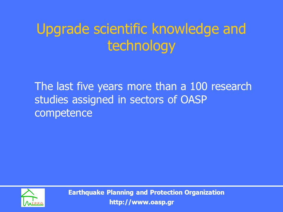 Upgrade scientific knowledge and technology