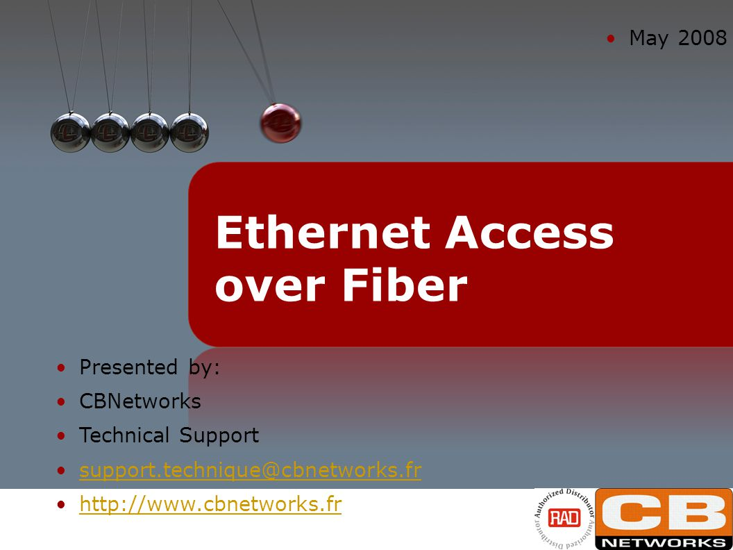 Ethernet Access over Fiber