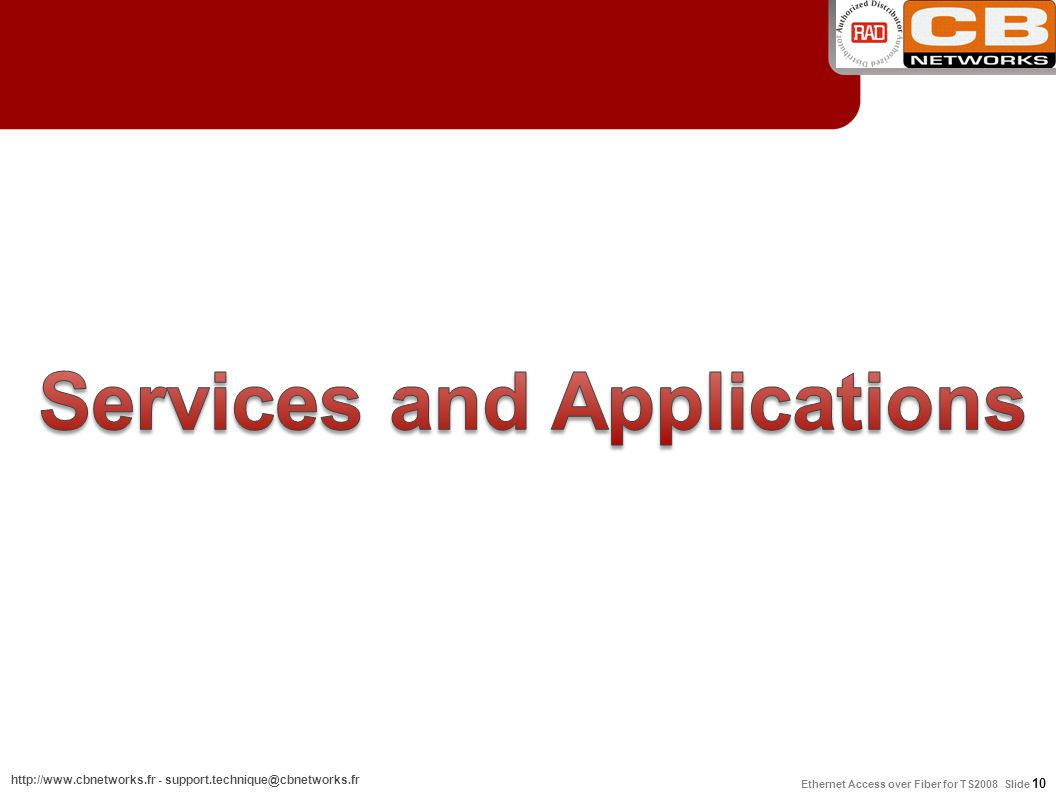 Services and Applications