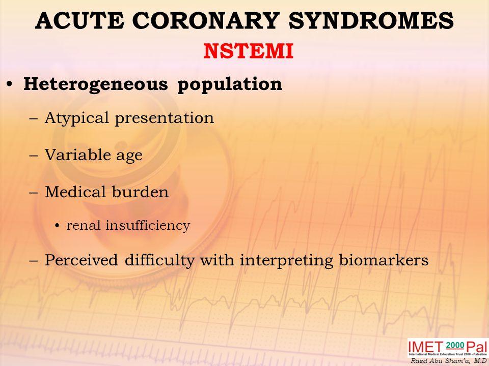 ACUTE CORONARY SYNDROMES NSTEMI