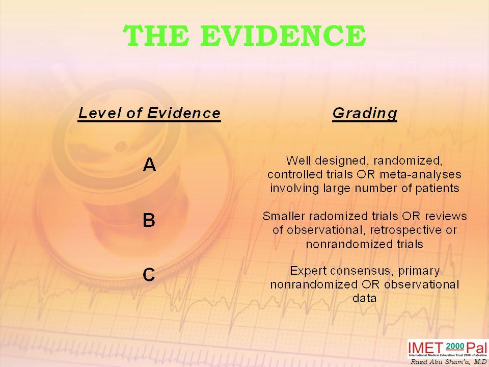 THE EVIDENCE Raed Abu Sham'a, M.D