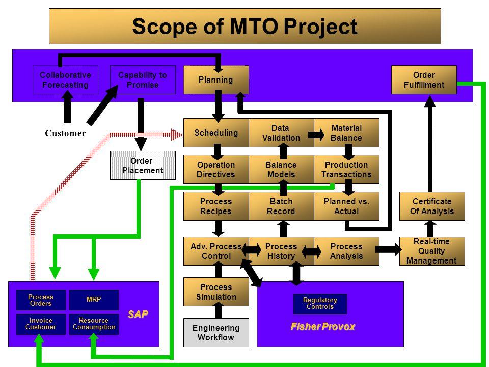 Scope of MTO Project Customer SAP Fisher Provox