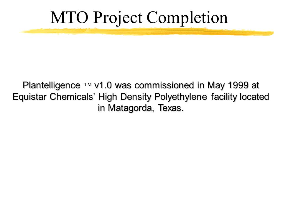 MTO Project Completion