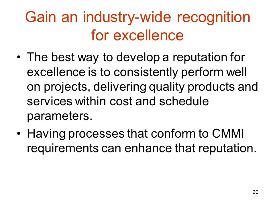 Gain an industry-wide recognition for excellence