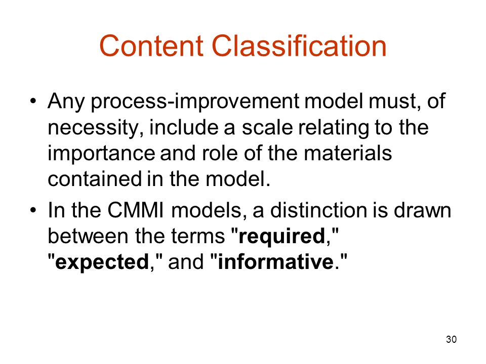 Content Classification