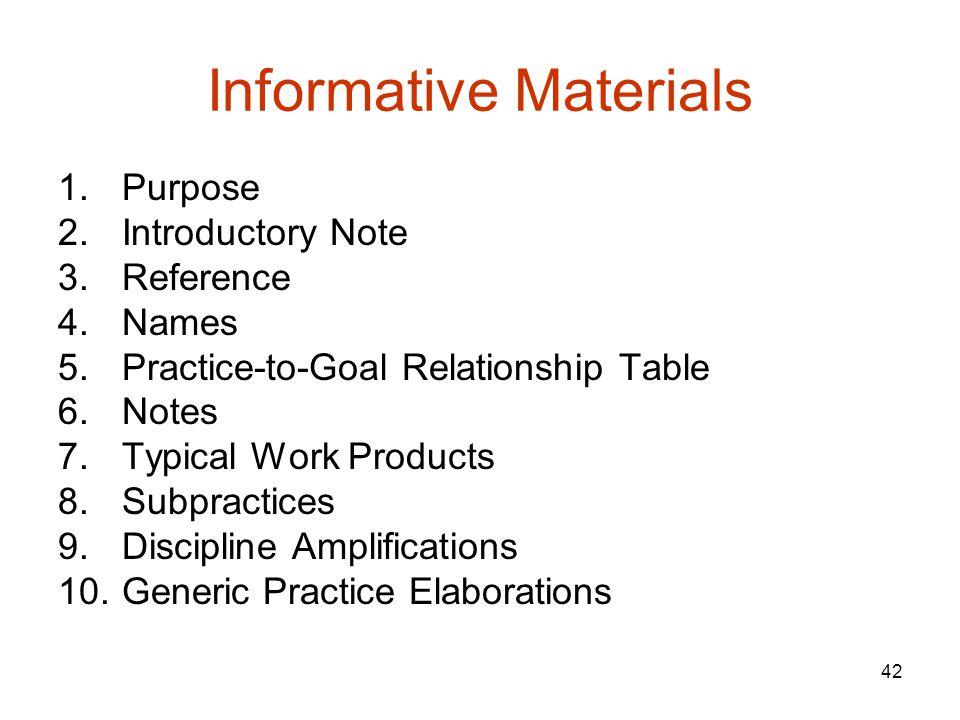 Informative Materials