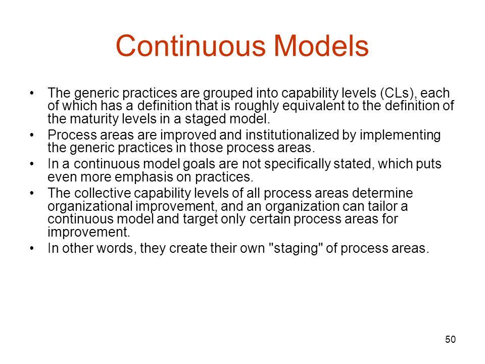 Continuous Models