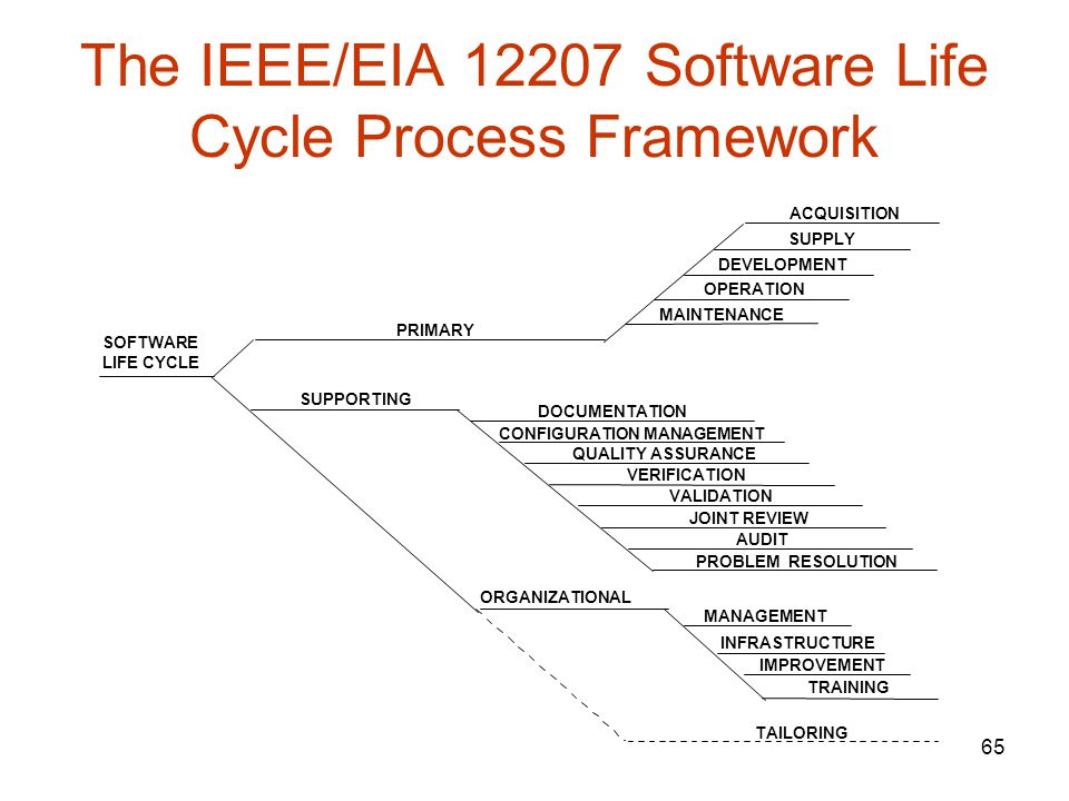 The IEEE/EIA Software Life Cycle Process Framework