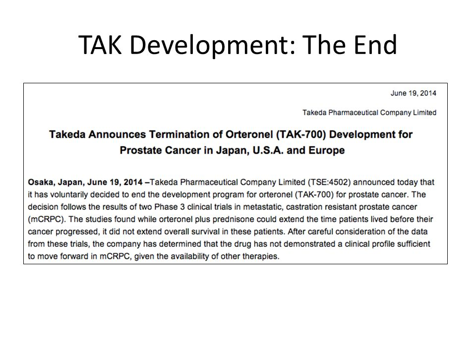 TAK Development: The End