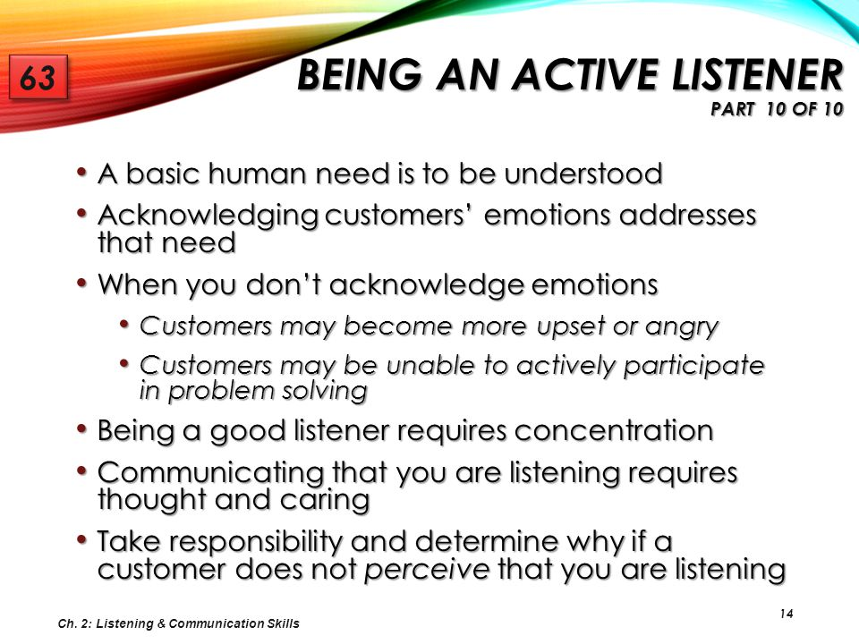 Being an Active Listener Part 10 of 10