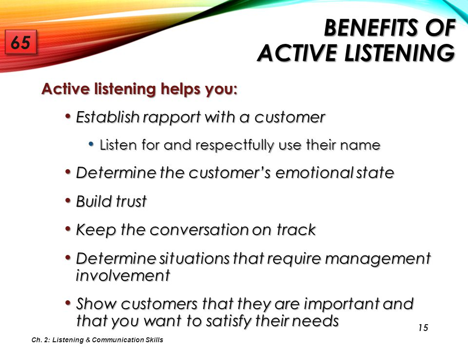 Benefits of Active Listening