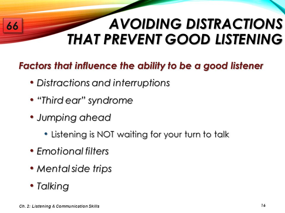 Avoiding Distractions that Prevent Good Listening