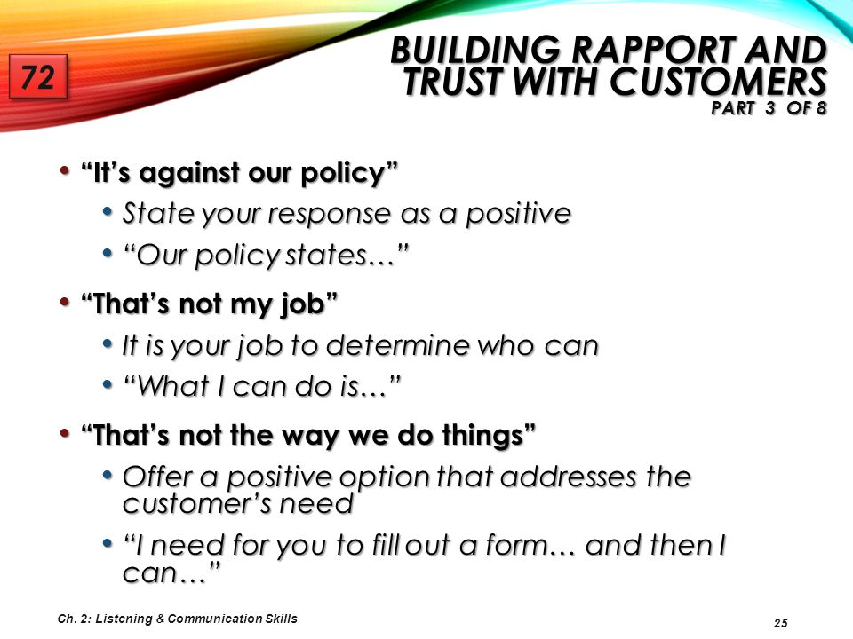 Building Rapport and Trust with Customers Part 3 of 8