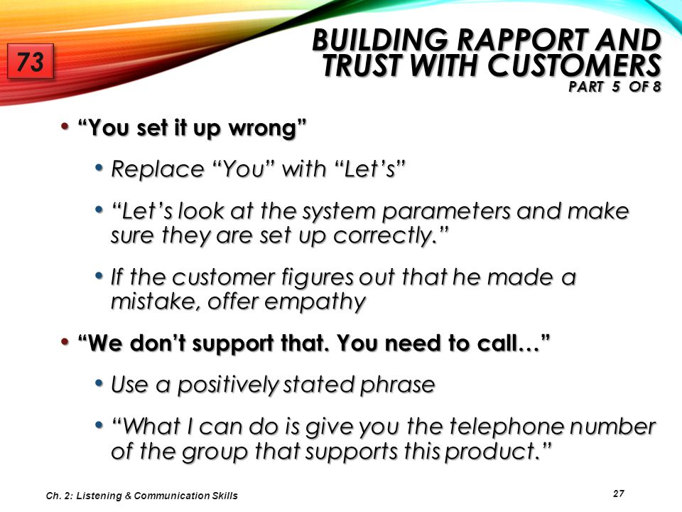 Building Rapport and Trust with Customers Part 5 of 8