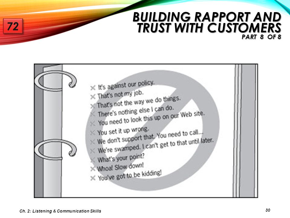 Building Rapport and Trust with Customers Part 8 of 8