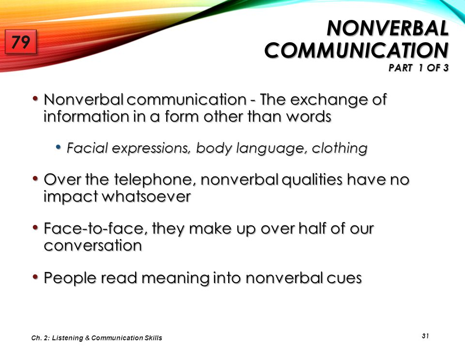 Nonverbal Communication Part 1 of 3