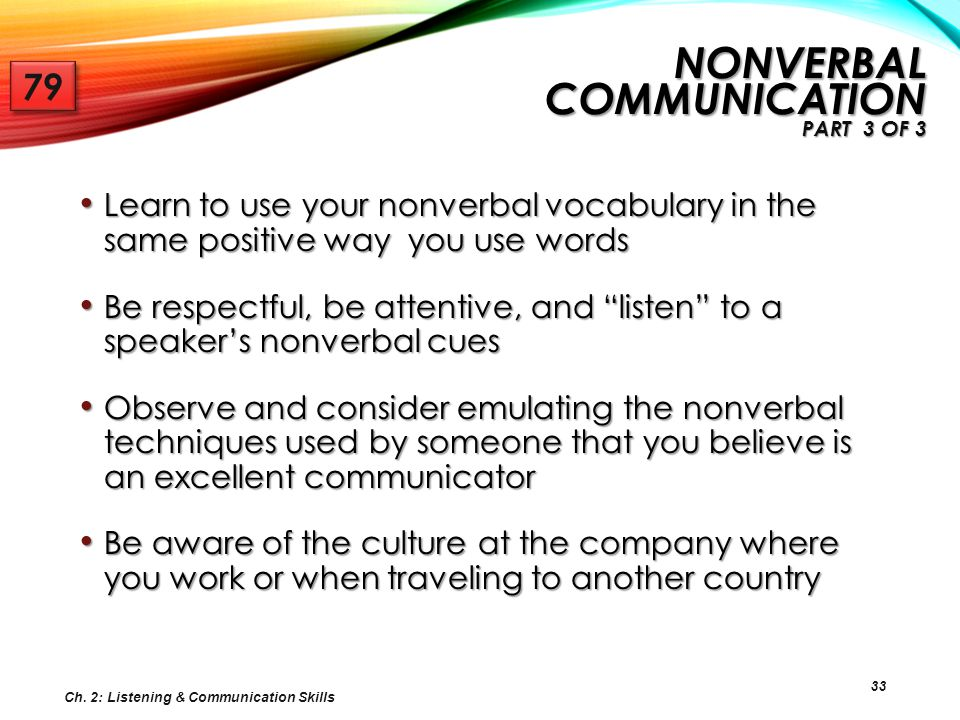 Nonverbal Communication Part 3 of 3