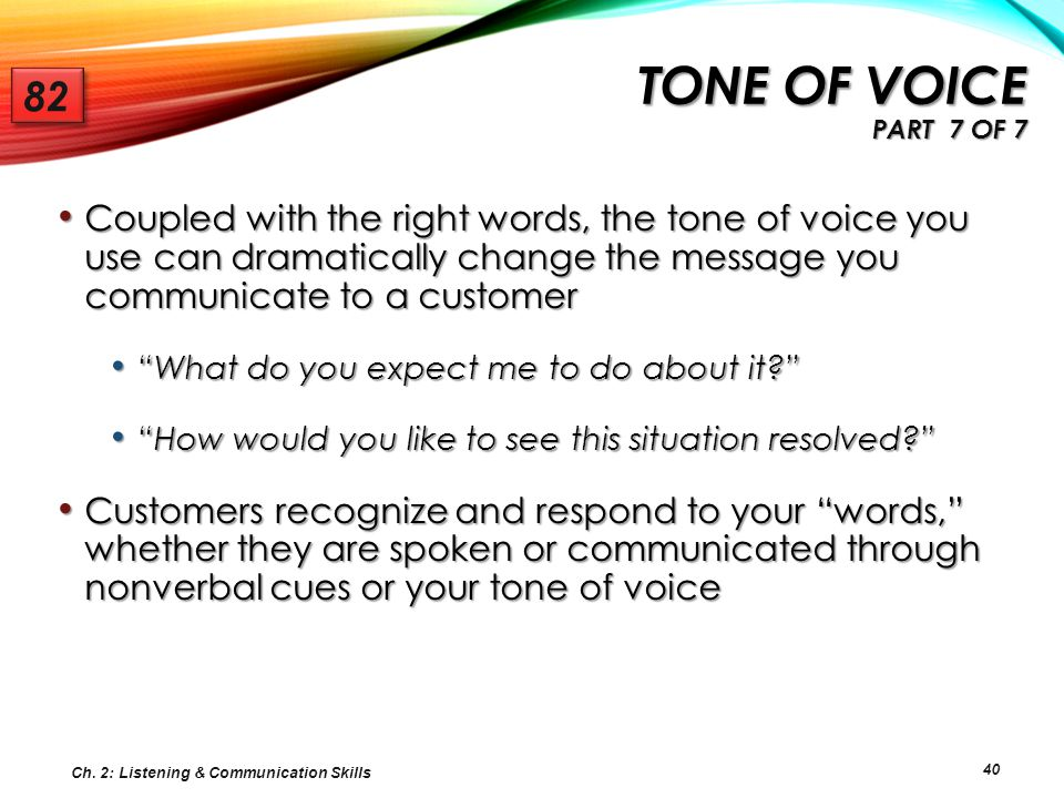 Tone of voice Part 7 of 7 82.