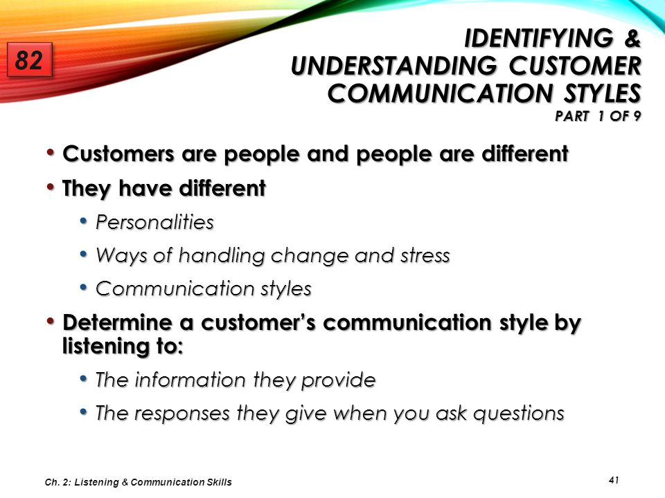 Identifying & Understanding Customer Communication Styles Part 1 of 9